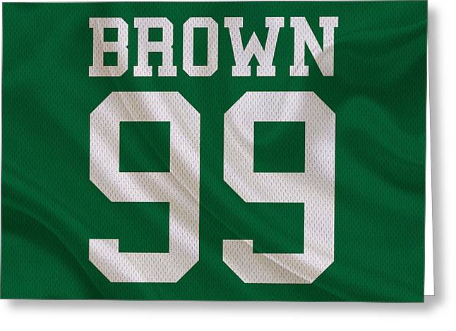 Philadelphia Eagles Jerome Brown Greeting Card by Joe Hamilton