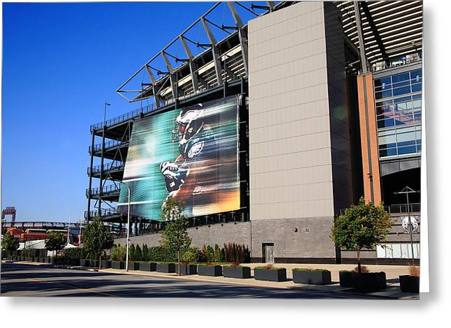 Philadelphia Framed Prints Greeting Cards - Philadelphia Eagles - Lincoln Financial Field Greeting Card by Frank Romeo