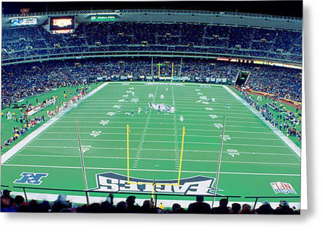 Philadelphia History Greeting Cards - Philadelphia Eagles Nfl Football Greeting Card by Panoramic Images