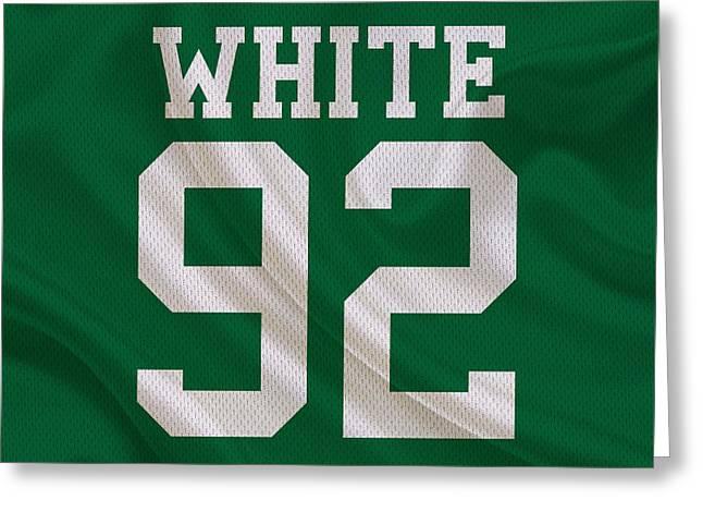 Philadelphia Greeting Cards - Philadelphia Eagles Reggie White Greeting Card by Joe Hamilton
