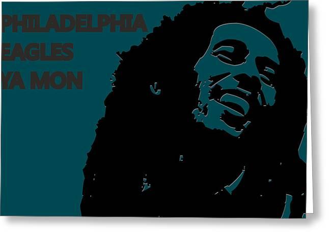 Drum Greeting Cards - Philadelphia Eagles Ya Mon Greeting Card by Joe Hamilton