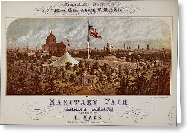 Philadelphia Fairground Greeting Card by British Library