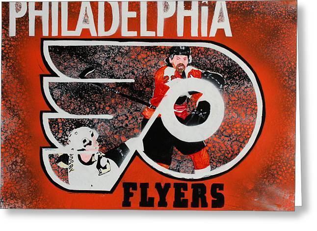 Flyer Paintings Greeting Cards - Philadelphia Flyers Greeting Card by Eduardo Zancanaro