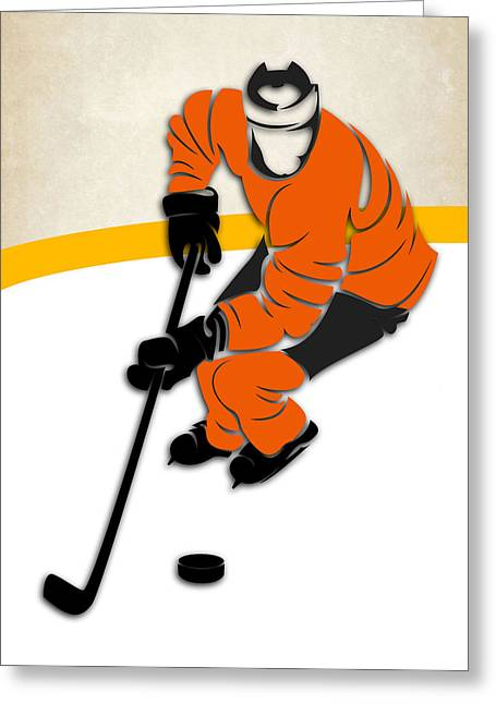 Flyer Greeting Cards - Philadelphia Flyers Rink Greeting Card by Joe Hamilton