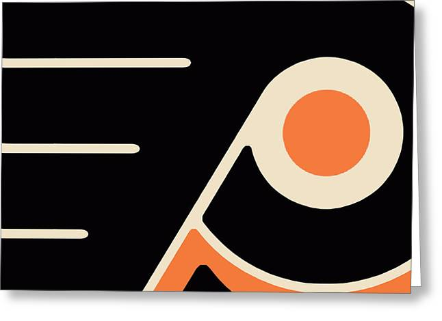 Phillies Mixed Media Greeting Cards - Philadelphia Flyers Size 2 Greeting Card by Tony Rubino