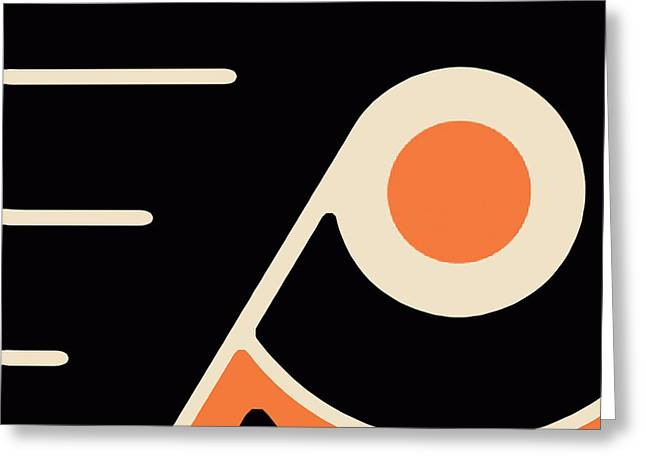 Puck Paintings Greeting Cards - Philadelphia Flyers Greeting Card by Tony Rubino