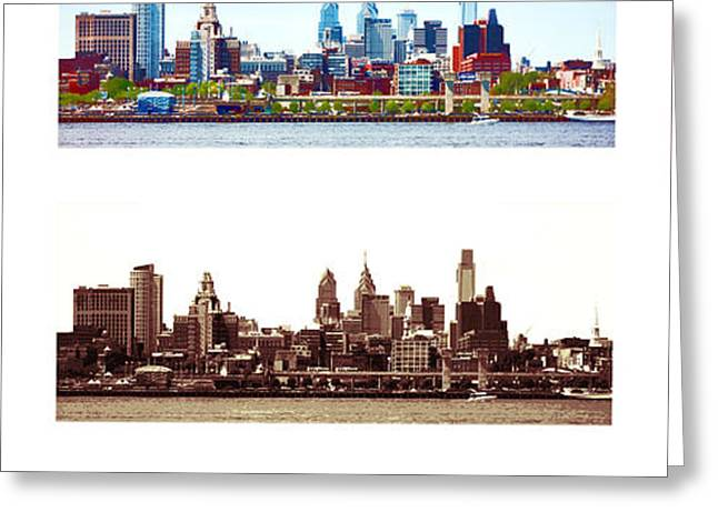 Philadelphia Four Seasons Greeting Card by Olivier Le Queinec