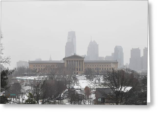 Phillies Art Digital Art Greeting Cards - Philadelphia from Lemon Hill Greeting Card by Bill Cannon