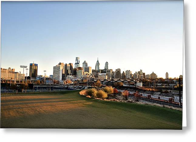 South Philadelphia Digital Art Greeting Cards - Philadelphia from South Street Greeting Card by Bill Cannon