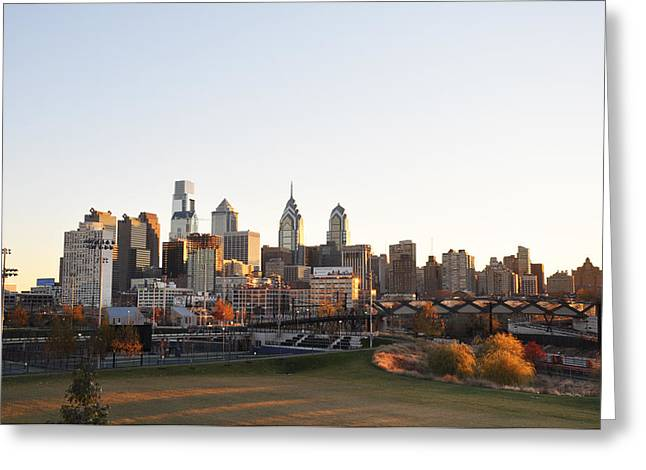 Phila Greeting Cards - Philadelphia from University City Greeting Card by Bill Cannon