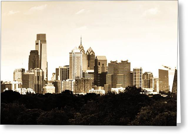 Philadelphia Greeting Cards - Philadelphia in Sepia Greeting Card by Bill Cannon