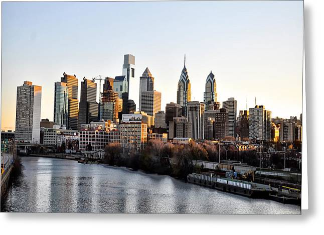 Phila Digital Art Greeting Cards - Philadelphia in the Morning Light Greeting Card by Bill Cannon