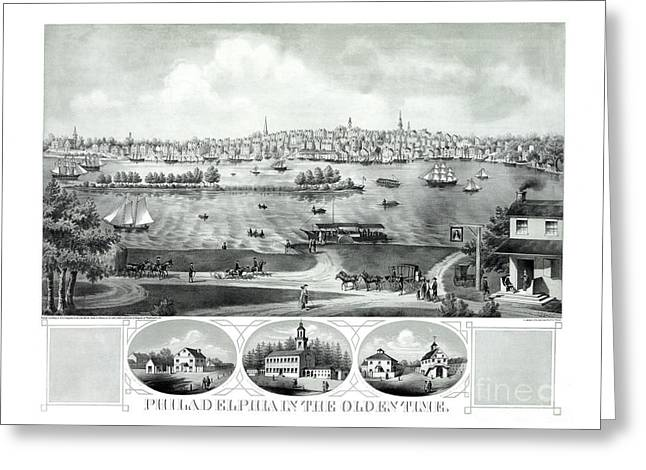 Philadelphia In The Olden Time - 1875 Greeting Card by Pablo Romero