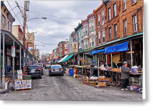 South Philadelphia Photographs Greeting Cards - Philadelphia Italian Market 2 Greeting Card by Jack Paolini