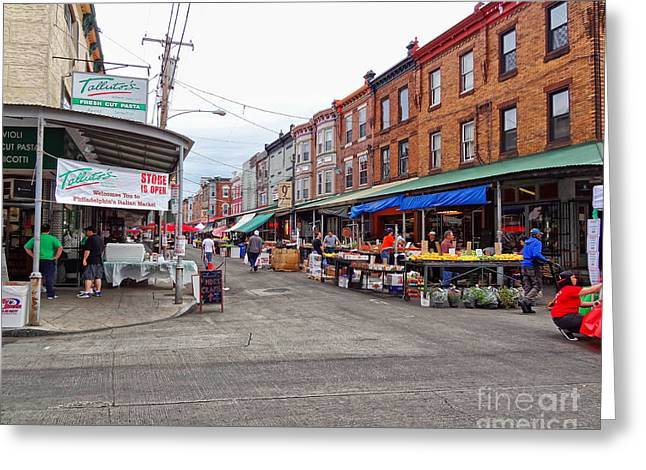 Philadelphia Italian Market 4 Greeting Card by Jack Paolini