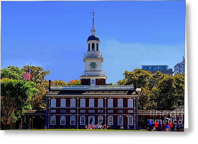 Phillies Digital Greeting Cards - Philadelphia Landmark Greeting Card by DJ Florek