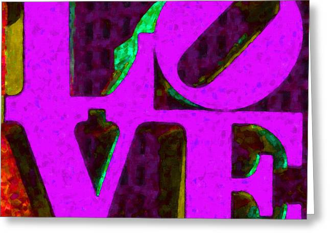 Philadelphia LOVE - Painterly v2 Greeting Card by Wingsdomain Art and Photography