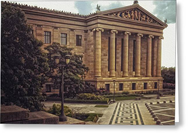 Gregory Dyer Digital Greeting Cards - Philadelphia Museum of Art Greeting Card by Gregory Dyer
