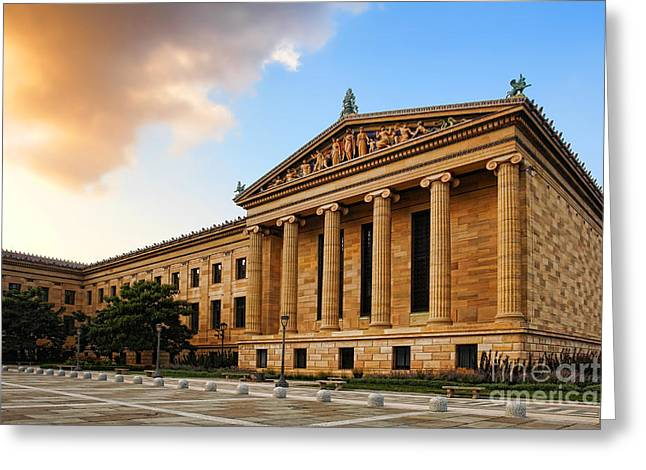 Philadelphia Museum of Art Greeting Card by Olivier Le Queinec