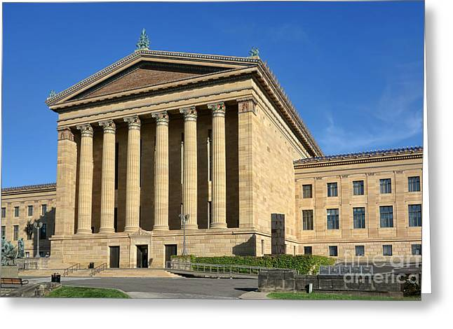 Philadelphia Museum of Art Rear Facade Greeting Card by Olivier Le Queinec