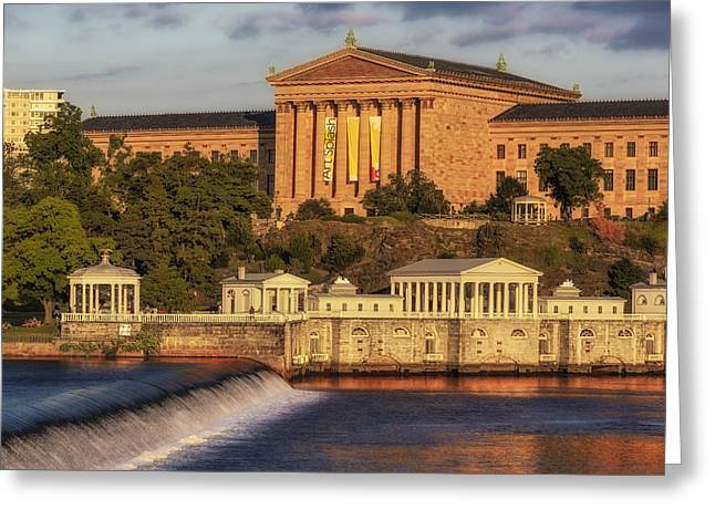 Watershed Greeting Cards - Philadelphia Museum of Art Greeting Card by Susan Candelario