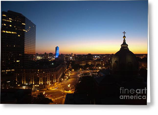 Philadelphia Night Greeting Card by Tatianne Lugo