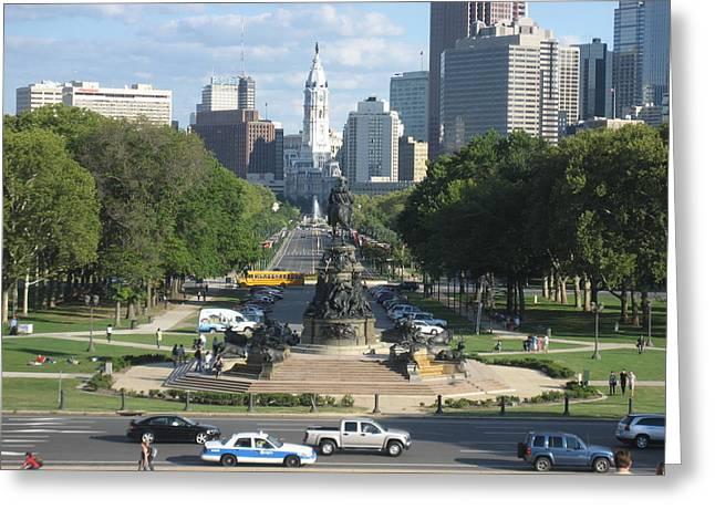 Philadelphia Greeting Cards - Philadelphia PA - 121240 Greeting Card by DC Photographer