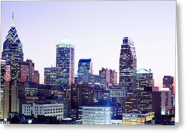 Pa Greeting Cards - Philadelphia Pa Greeting Card by Panoramic Images