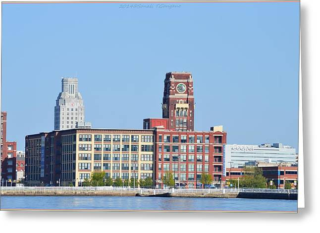 Phillies Framed Prints Greeting Cards - Philadelphia panaroma Greeting Card by Sonali Gangane