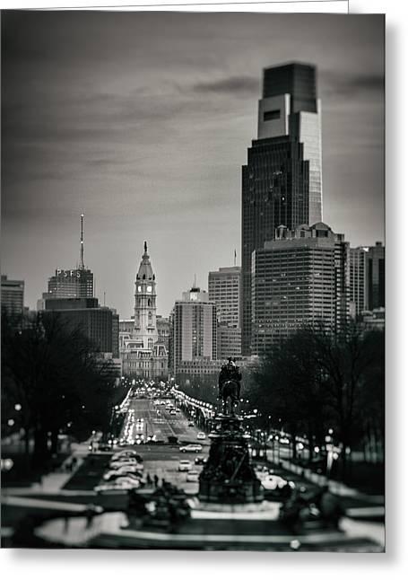Philadelphia Greeting Cards - Philadelphia Parkway Greeting Card by Scott  Wyatt