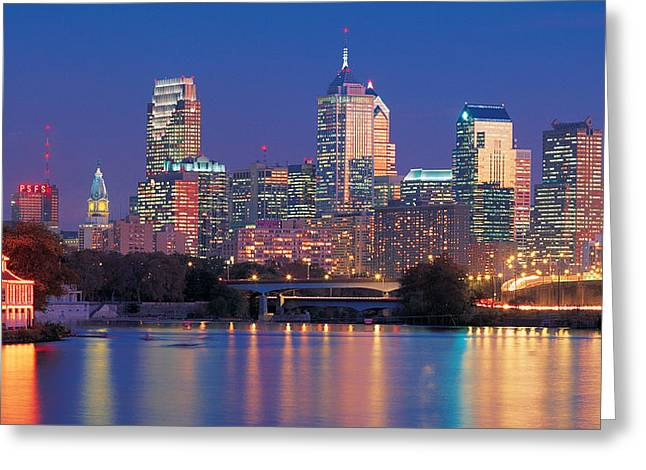 Pa Photographs Greeting Cards - Philadelphia, Pennsylvania Greeting Card by Panoramic Images
