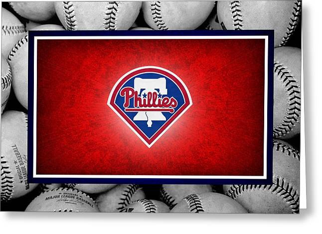 Baseball Field Greeting Cards - Philadelphia Philles Greeting Card by Joe Hamilton