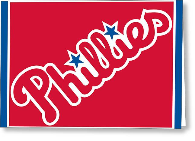 Citizens Bank Park Prints Greeting Cards - Philadelphia Phillies Baseball Greeting Card by Tony Rubino