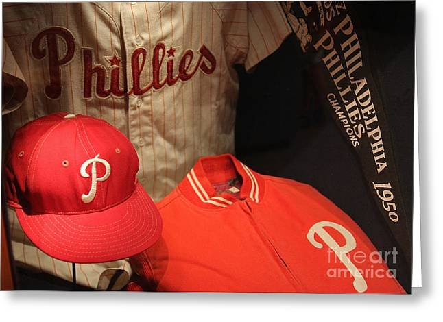 Citizens Bank Greeting Cards - Philadelphia Phillies Greeting Card by David Rucker