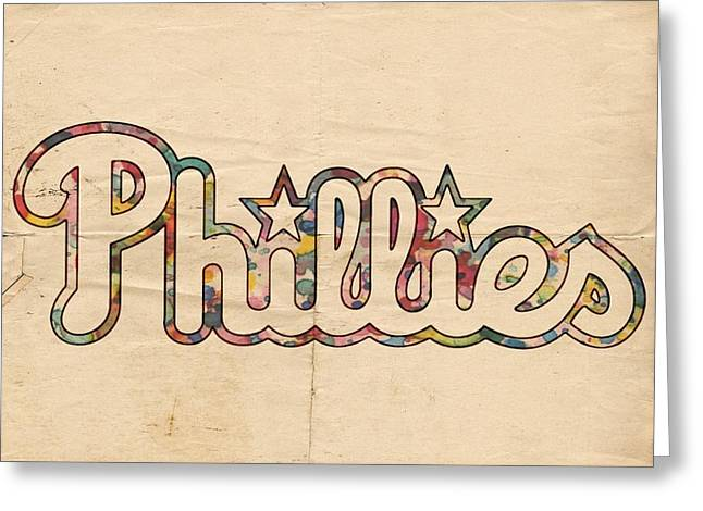 Phillies Posters Greeting Cards - Philadelphia Phillies Poster Art Greeting Card by Florian Rodarte