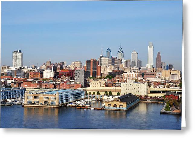 Philadelphia Digital Greeting Cards - Philadelphia River View Greeting Card by Bill Cannon