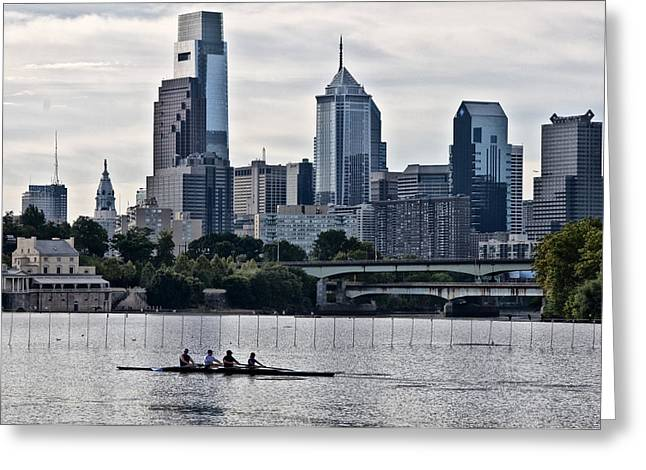 Philadelphia Greeting Cards - Philadelphia Rowing Tradition Greeting Card by Bill Cannon
