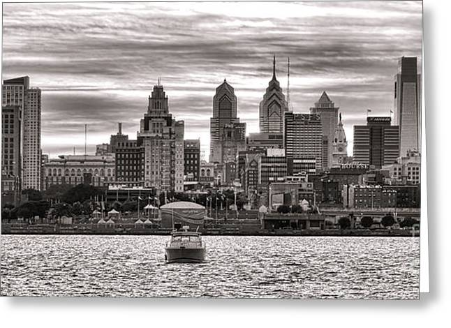 Philadelphia Greeting Cards - Philadelphia Silver Greeting Card by Olivier Le Queinec