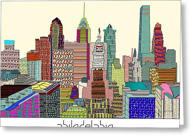 Philadelphia Skyline Greeting Card by Bri B