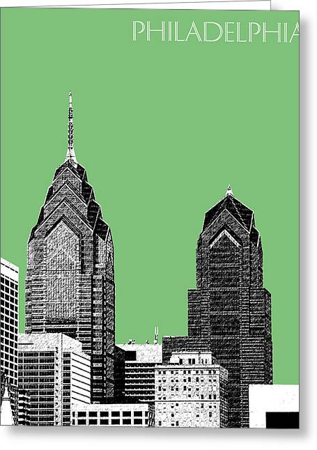 Philadelphia Skyline Greeting Cards - Philadelphia Skyline Liberty Place 2 - Apple Greeting Card by DB Artist