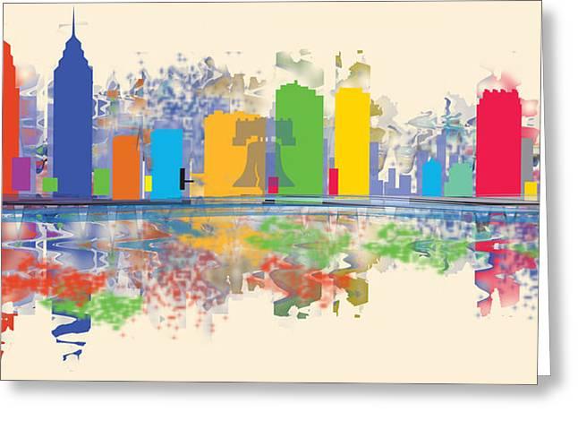 Betsy Bell Greeting Cards - Philadelphia Skyline Greeting Card by Loretta Luglio