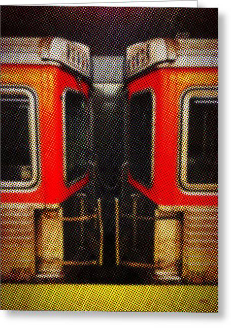 Phillies Tickets Greeting Cards - Philadelphia - Subway in Newsprint Greeting Card by Richard Reeve