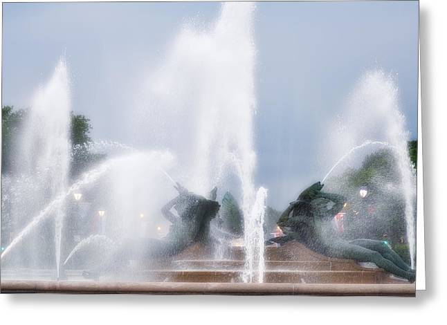 Philadelphia - Swann Memorial Fountain Greeting Card by Bill Cannon