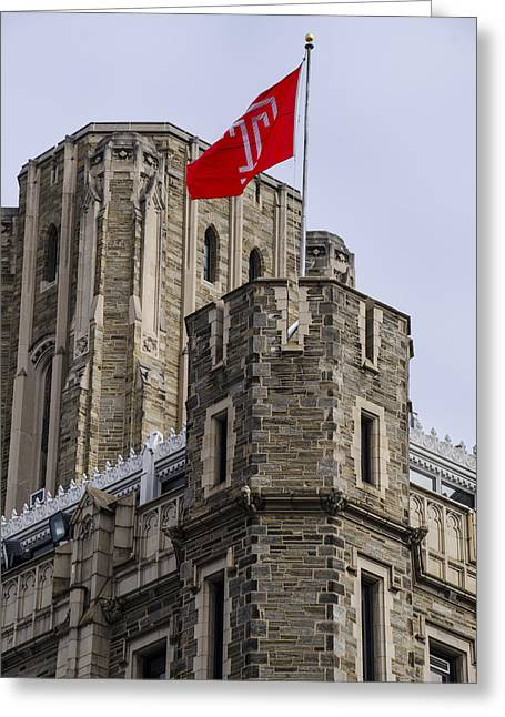 Broad Street Digital Art Greeting Cards - Philadelphia - Temple University Greeting Card by Bill Cannon