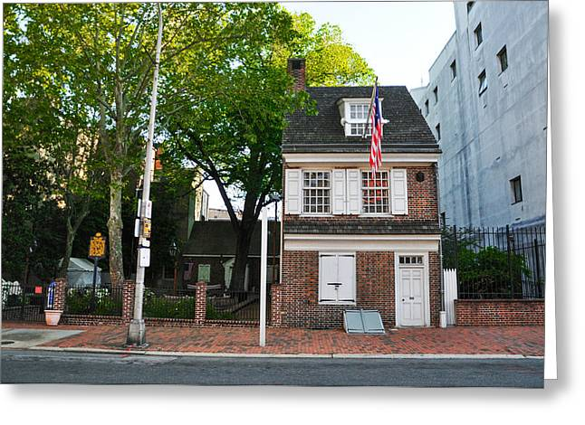 Betsy Ross Greeting Cards - Philadelphia - The Betsy Ross House Greeting Card by Bill Cannon