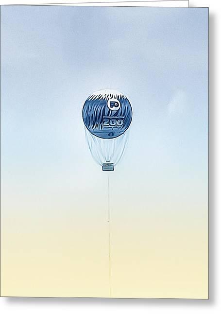 Philadelphia Digital Art Greeting Cards - Philadelphia Zoo Balloon Greeting Card by Bill Cannon