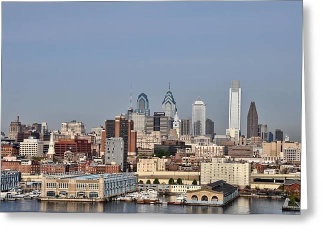 Philadelphia Digital Art Greeting Cards - Philadelphias Skyline Greeting Card by Bill Cannon