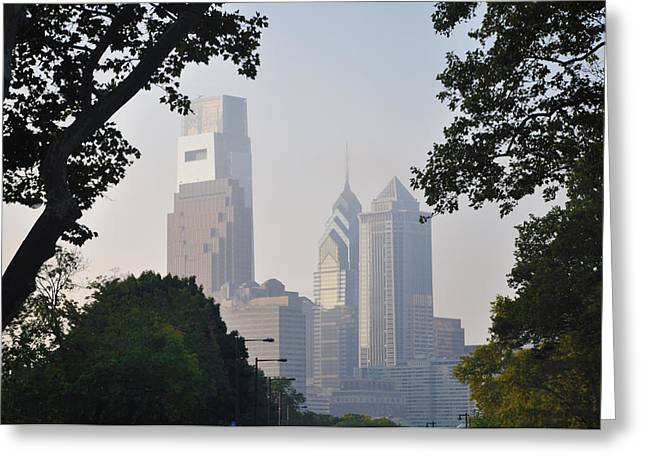Philadelphia Digital Greeting Cards - Philadelphias Skyscrapers Greeting Card by Bill Cannon