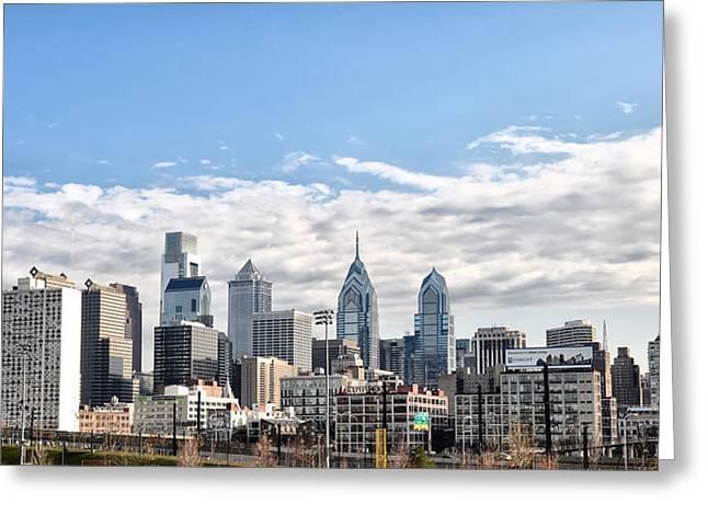 Philadelphia Digital Art Greeting Cards - Philadelphias Skysrapers Greeting Card by Bill Cannon