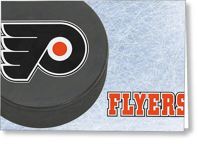 Philadelphia Greeting Cards - Philadephia Flyers Greeting Card by Joe Hamilton